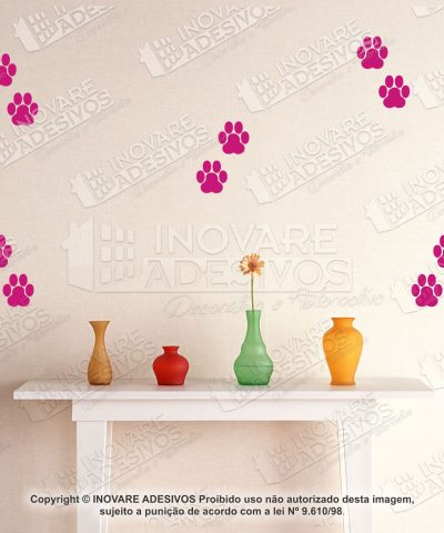 Adesivo Decorativo Pet Shop Patas de Cachorro 10 cm