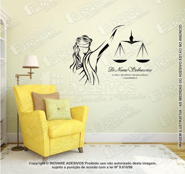Adesivo Advocacia Justiça co Nome