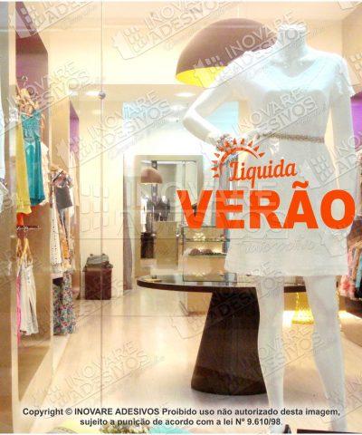 Adesivo Decorativo Vitrine Liquida Verão 02