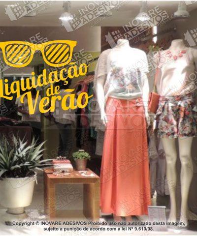 Adesivo Decorativo Vitrine Liquidação Verão 03