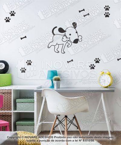 Adesivo Decorativo Pet Shop Cachorro Patinhas 35