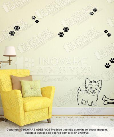 Adesivo Decorativo Pet Shop Cachorro Yorkie Macho M14